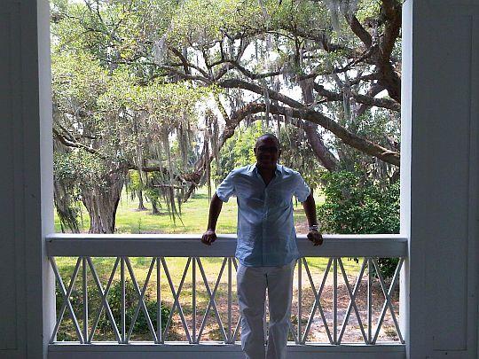 veranda of a slave plantation