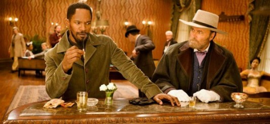 Jamie Foxx and Franco Nero in Django Unchained