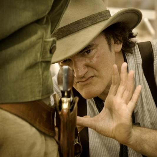 Quentin Tarantino directing Django Unchained