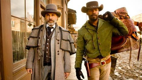 Christophe Waltz and Jamie Foxx as Dr. King Shultz and Django