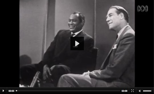 Paul Robeson Interview in Australia