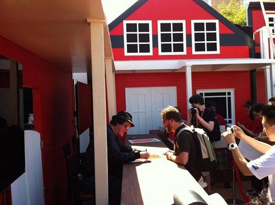 Quentin Tarantino signing