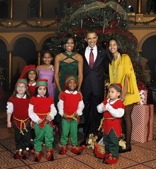 The Obamas at Christmas
