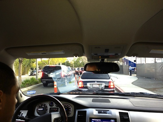 Traffic on the way to the Golden Globe Awards