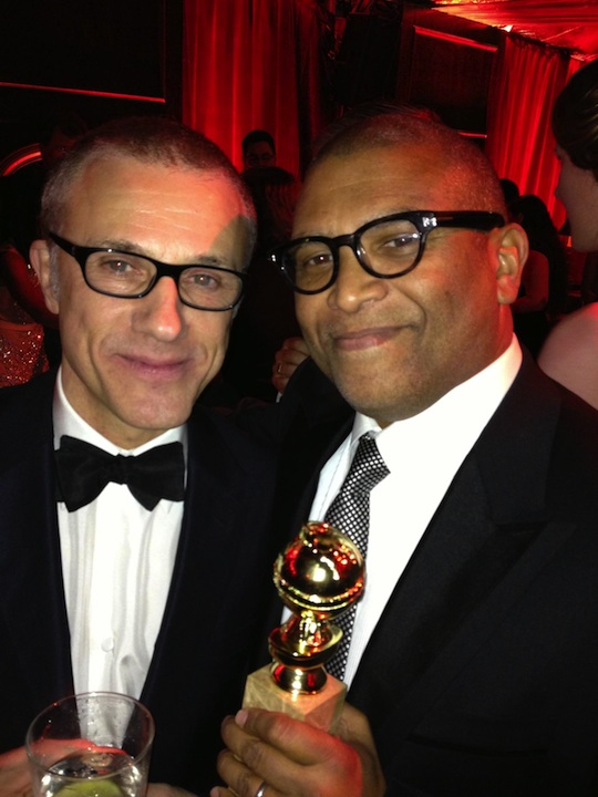 Reginald and Christoph Waltz at the afterparty