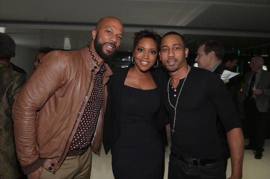 Common, Tavia, and Brandon T. Jackson