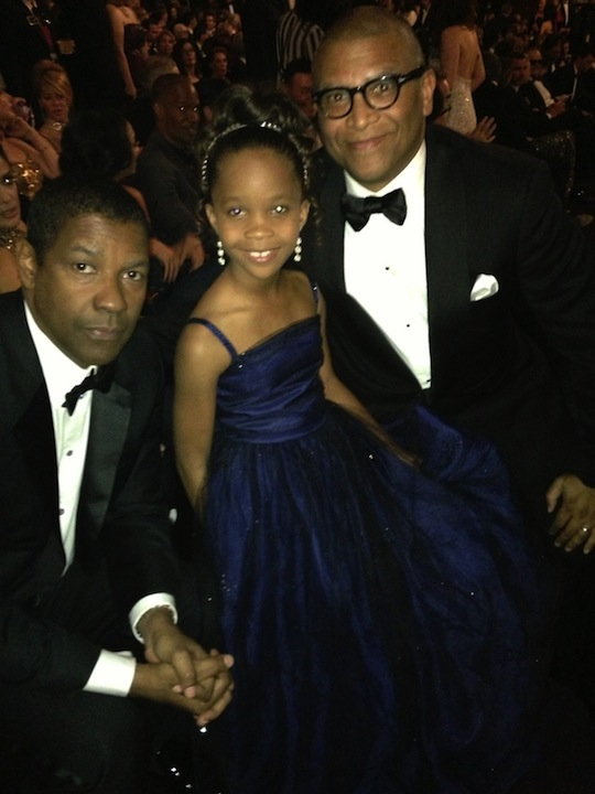 Denzel Washington, Quvenzhane Wallis, and Reginald Hudlin