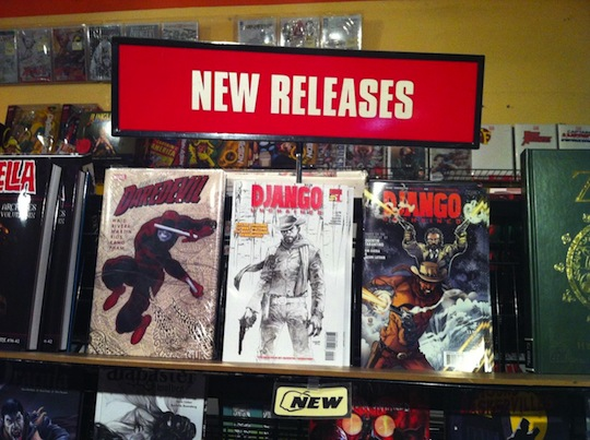 Django Unchained Comic Book on display at Golden Apple