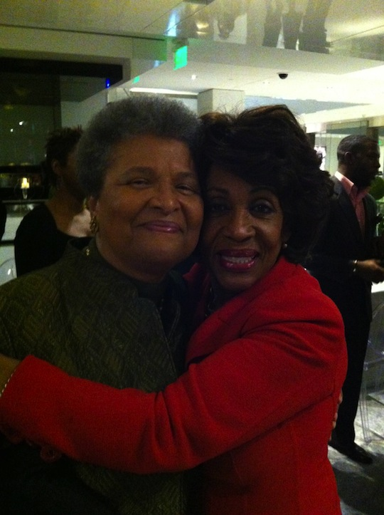 Helen Hudlin & Maxine Waters