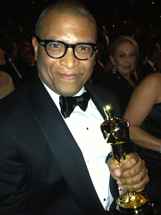 Reginald Hudlin with Quentin's Oscar