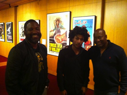 Selwyn Hines and John Singleton with his son