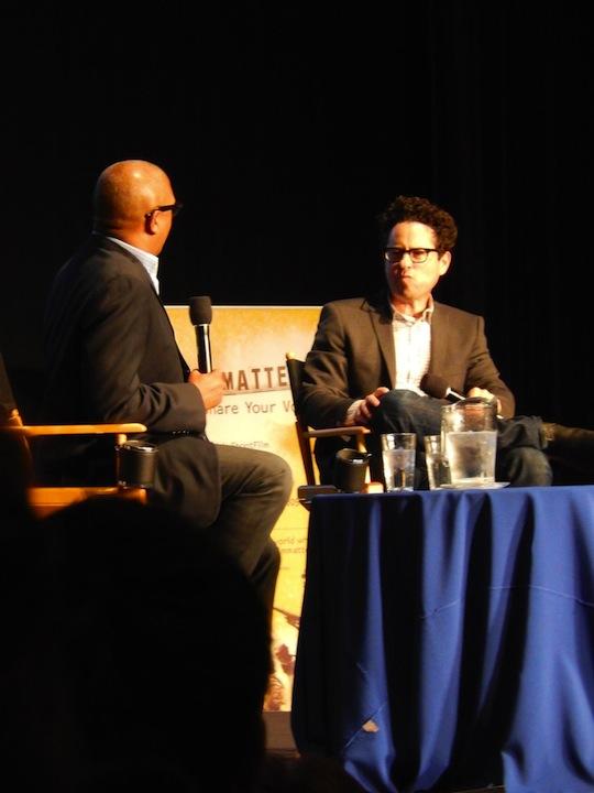 Reggie interviewing J.J. Abrams