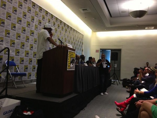 Reggie at SDCC Black Panel