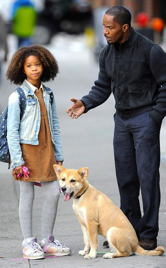 Jamie Foxx And Quavenzhane Wallis in Annie