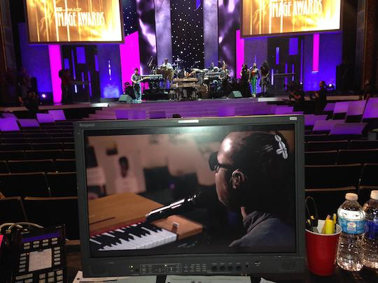 Stevie Wonder NAACP Image Awards rehearsal