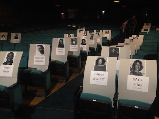 NAACP Image Awards rehearsal seating