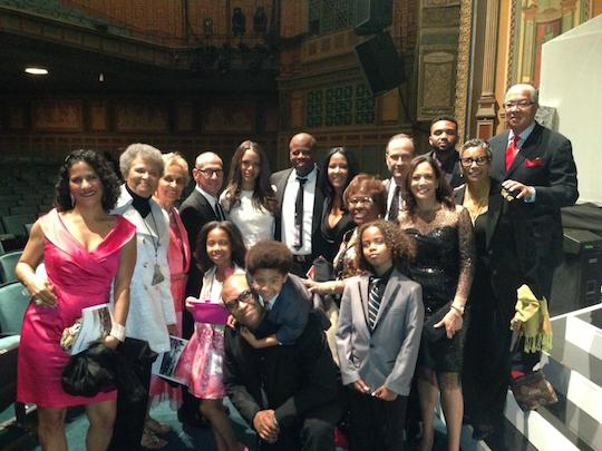 NAACP Image Awards producers with friends and family