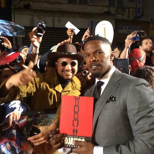 Jamie Foxx with Django Unchained fans