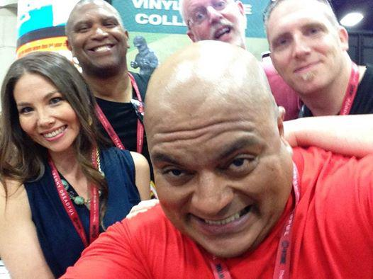 Marjorie Liu, Reggie, HEF's Sam Wilson, Keith Kopinski and Joe Thomas Jr.