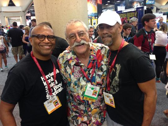 Reggie with Sergio Aragones and Denys Cowan