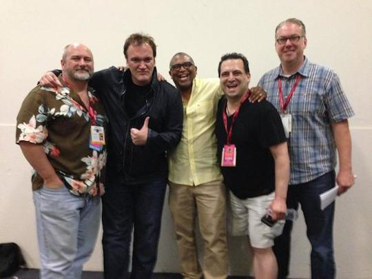 Matt Wagner, Quentin Tarantino, me, Nick Barrucci and Joseph Rybandt right after the SDCC Django/Zorro panel.