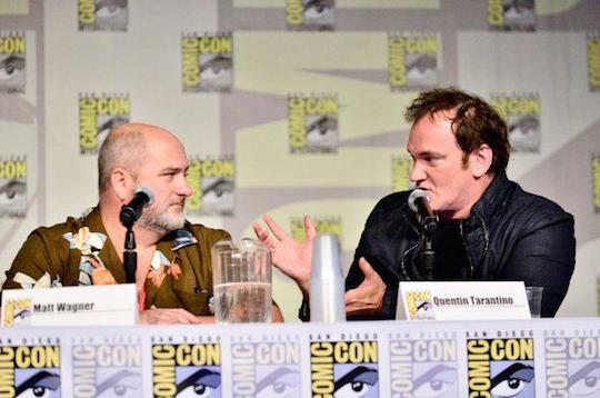 Matt Wagner and Quentin Tarantino at the Django/Zorro panel