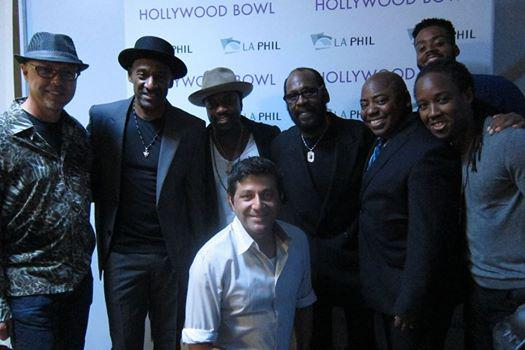 John Beasley, Marcus Miller, Anthony Hamilton, Ramon Yslas (in front), Wah Wah Watson, Paul Jackson Jr, Kris Bowers and Louis Cato