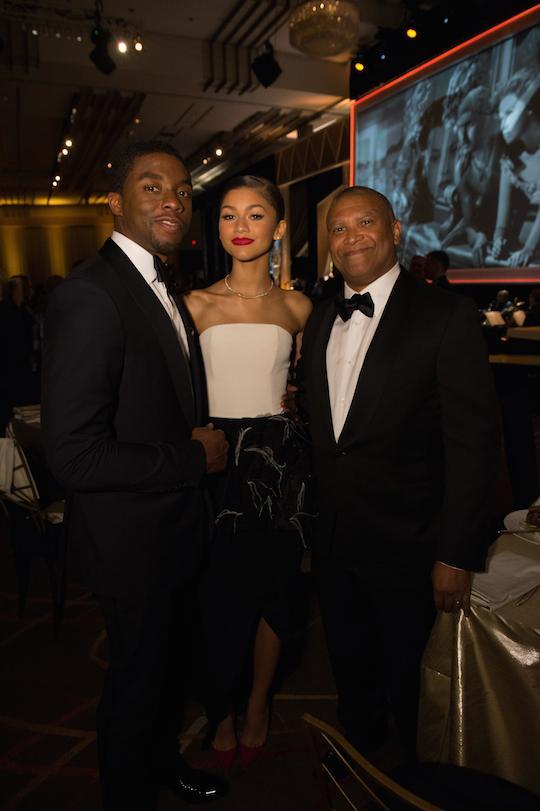 Chadwick Boseman, Zendaya and Reggie