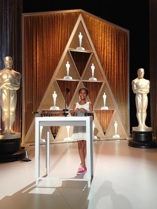 Helena on the Governers Awards set