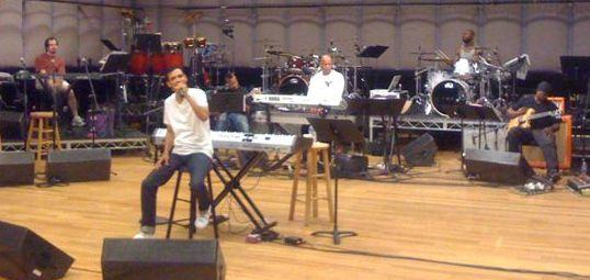 El Debarge in rehearsal