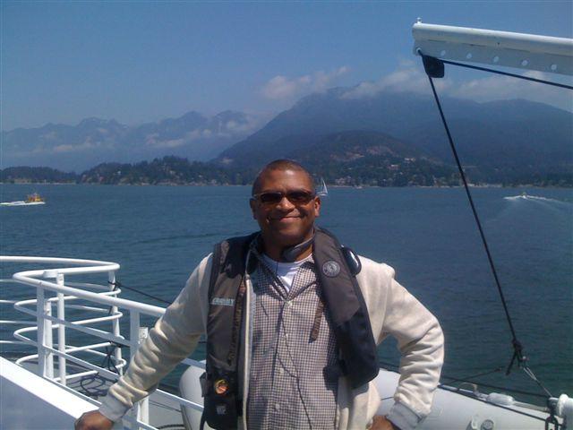 Reggie in Vancouver on the boat