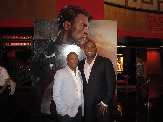 Captain America premiere: Reginald Hudlin and Javon Frasier