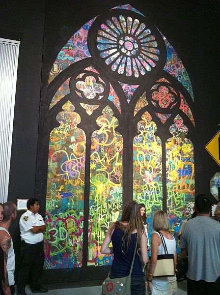 Church window mural