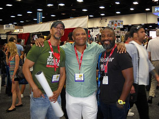 Denys Cowan, Reginald Hudlin, Selwyn Hines at SDCC 2011