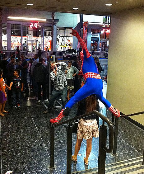 Spider Man impersonator at Captain America premiere