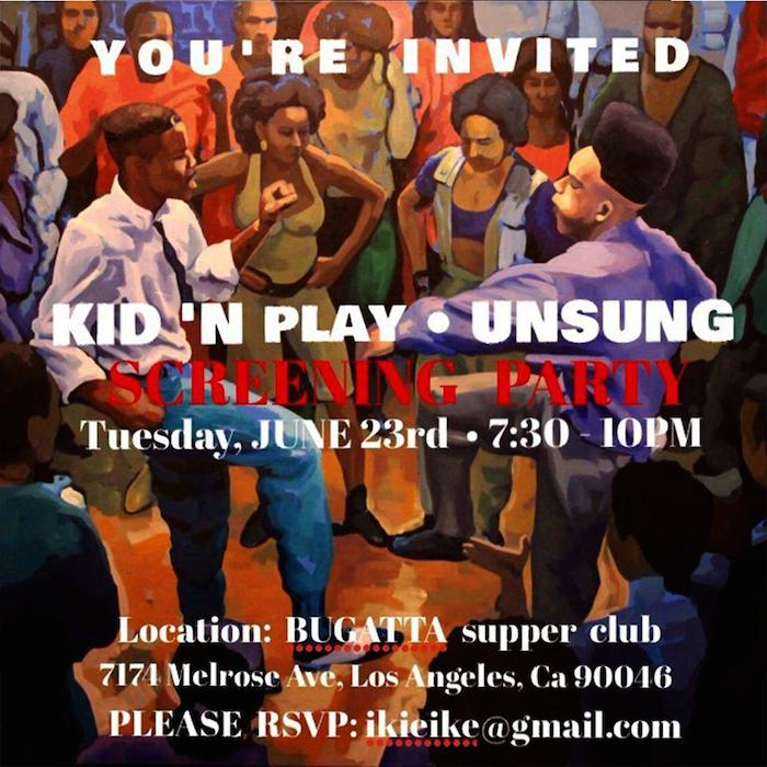 Kid 'N Play Unsung Screening Party flyer