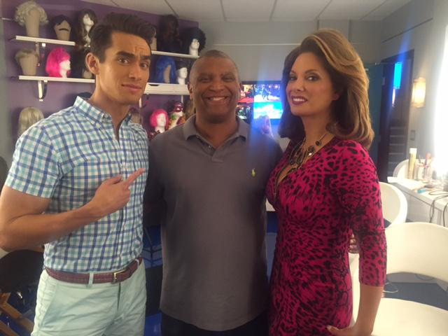 Jose Moreno Brooks and Alex Meneses with Reggie