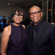 Reggie with AMPAS president Cheryl Boone Isaacs