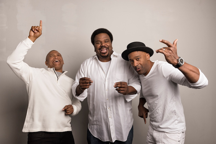 Creator/Producer Reginald Hudlin, Host Craig Robinson, and Grammy Winner Marcus Miller. Courtesy Photo