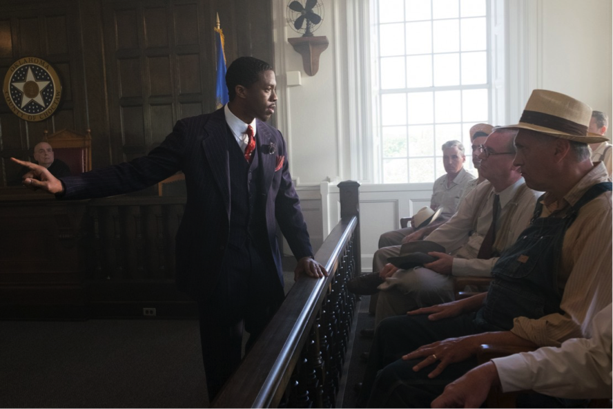 "Chadwick Boseman in ""Marshall"""