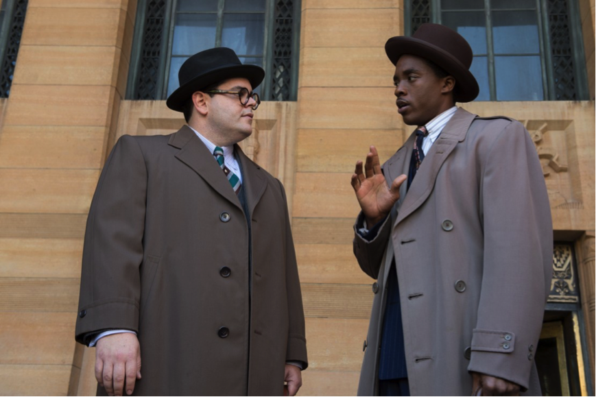 "Chadwick Boseman and Josh Gad in ""Marshall"""